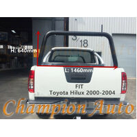 3'' Black Powder Coated Steel Ladder Rack Fit Toyota Hilux 2000-2004 TUB