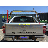 3'' Stainless steel Ladder Rack fit Toyota Hilux 2000-2004 TUB