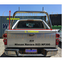 3'' Stainless steel Ladder Rack Nissan Navara D23 NP300 Tub 2015 2016 2017 2018+
