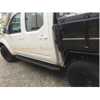 Holden RG Colorado Dual Cab Side Steps Matt Black Steel 2012-2018+ Raptor