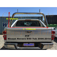 3'' Stainless steel Ladder Rack fit Nissan Navara D40 Tub 2006-2014