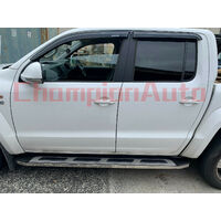 Nissan Navara D40 Dual Cab Side Steps Running Boards Aluminium 05-14 (CMP15)