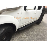 Isuzu Dmax Dual Cab Side Steps Black Powder Coated Steel 2012-08/2020 (Raptor)