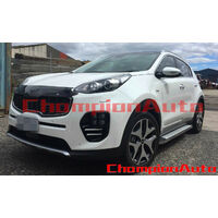 Kia Sportage Aluminium Black Side Steps Running Boards 2016 2017 2018+ (CMP31)