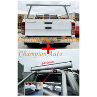 Polished Silver Alloy Ladder Rack + Extension Bar for Ford Ranger 2008-2011