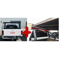 BLACK Alloy Ladder Rack WITH Extension Bar for Nissan Navara D40 2006-2014