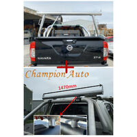 Polished Alloy Ladder Rack with extension bar Nissan Navara D23 NP300 TUB 2015+