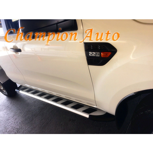 Ford Ranger  Super Cab Side Steps Running Boards Aluminium  2012-2018 (CMP39)
