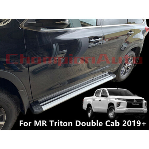 Alloy Side Steps FOR Mitsubishi Triton MR Double Cab 4 Doors 2019+ (S6)